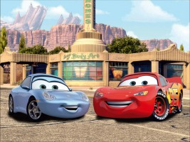 Cars Lightning Mcqueen And Sally 4 Parts Photo