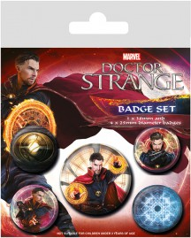Doctor Strange - Magic Badgepack, 1 X 38mm & 4 X 25mm Buttons