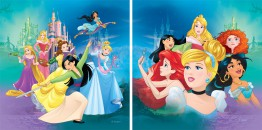 Disney Prinzessin - Ariel, Jasmine, Rapunzel, Belle, Cinderella And Snow White, Disney