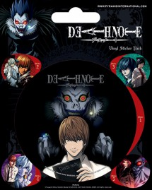 Death Note - 1 Large 4 Small Stickers