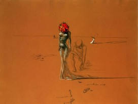 Salvador Dali - Female Figure With Head Of Flowers