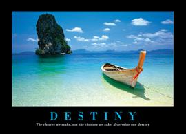 Motivation - Destiny - Beach and Boat