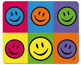 Emoticons - Smiley, Colour Blocking, Warhol Style Pop Art