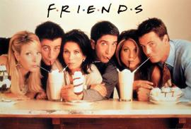 Friends - Group With Milkshakes