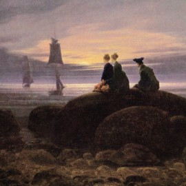 Caspar David Friedrich - Mondaufgang Am Meer, 1822, Detail