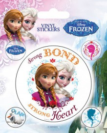 Frozen - Anna And Elsa, Strong Bond Strong Heart, 5 Vinyl Stickers