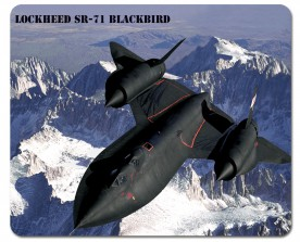 Fighter Aircrafts - Lockheed SR-71 Blackbird Over Sierra Nevada Mountains
