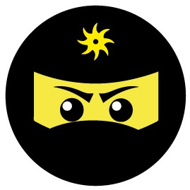 Gaming - Ninja Icon, Gelb