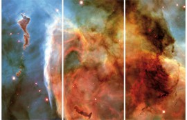 Space And Universe - Keyhole Nebula In The Constellation Of Carina, 3 Parts