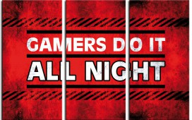 Gaming - Gamers Do It All Night, 3-Teilig