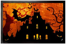 Halloween - Spooky House And Blood Moon