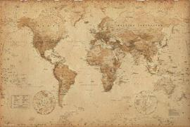 Historical Maps - World Map, Ye Olde, In English