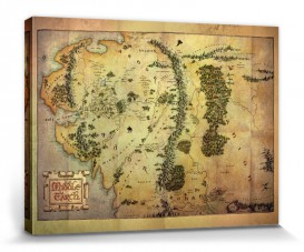 The Lord Of The Rings Journey Map Middle Earth