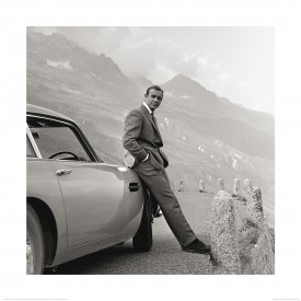 James Bond 007 - Sean Connery Et Aston Martin