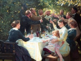 Peter Severen Kroyer - Hip, Hip, Hurra! Künstlerfest In Skagen, 1888, 2-Teilig