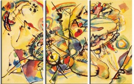 Wassily Kandinsky - Composition, 1917, 3 Parts