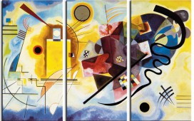 Wassily Kandinsky - Yellow Red Blue, 1925, 3 Parts