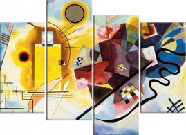 Wassily Kandinsky - Yellow Red Blue, 1925, 4 Parts