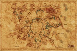 The Legend Of Zelda - Breath Of The Wild, Hyrule Map