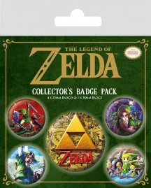 The Legend Of Zelda - Link, 1 X 38mm & 4 X 25mm Badges