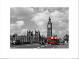 London - Red Buses By Big Ben, Janet Gill