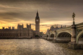 London - Autumn Skies, Big Ben And River Thames, Rod Edwards