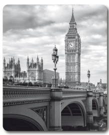 London - Big Ben Und Westminster Bridge
