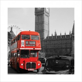 london westminster roter bus taxi kunstdrucke. Black Bedroom Furniture Sets. Home Design Ideas