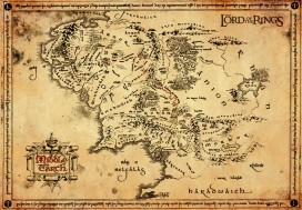The Lord Of The Rings - Parchment Map Of Middle Earth