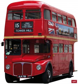 london roter bus sticker online im shop von 1art1 kaufen. Black Bedroom Furniture Sets. Home Design Ideas
