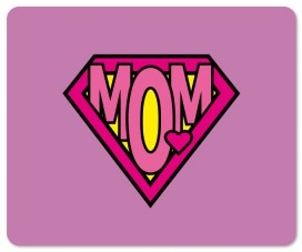 Muttertag - Super Mom, Pink Logo