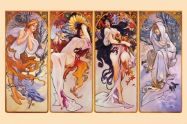 Alphonse Mucha - The Four Seasons, 1896