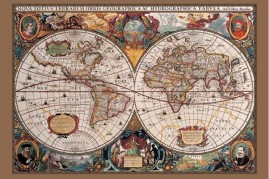 Historical Maps - 17th Century World Map