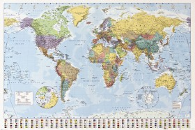 Maps - World Map, Edition 2008, In English