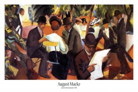 August Macke - Gartenrestaurant, 1912