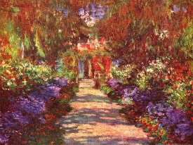 Claude Monet - Eine Allee In Giverny, Gartenweg, 1902