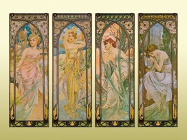 Alphonse Mucha - The Four Times Of Day, 1899, 2 Parts