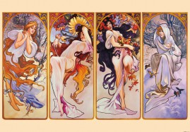 Alphonse Mucha - The Four Seasons, 1896, 3 Parts