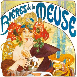 Alphonse Mucha - Beers Of The Meuse, 1897