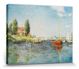 Claude Monet - Rote Boote Bei Argenteuil, 1875