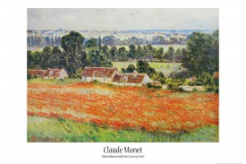 Claude Monet - Mohnblumenfeld Bei Giverny, 1885