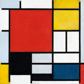 Piet Mondrian - Composition With Large Red Plane, 1921