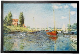 Claude Monet - Red Boats At Argenteuil, 1875