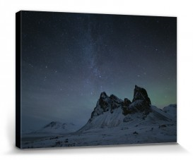Berge - Starry Night, Eystrahorn Mountains, Iceland, David Clapp