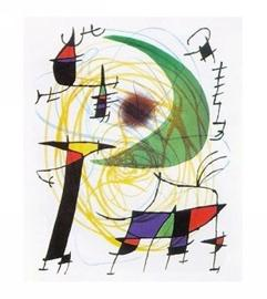 Joan mir la lune verte reproductions acheter des for Joan miro interieur hollandais