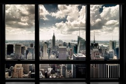 New York - Window With View On Skyline