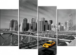 Rideau New York Taxi Jaune. New York City Yellow Taxicabs. Grande ...