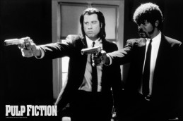 Pulp Fiction - John Travolta Und Samuel L Jackson