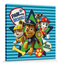 Paw Patrol Pawsome Work Stretched Canvas Prints Buy