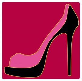 schuhe pink pumps pop art vinyl sticker online im. Black Bedroom Furniture Sets. Home Design Ideas